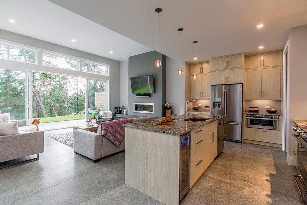 Concrete Comfort Kitchen
